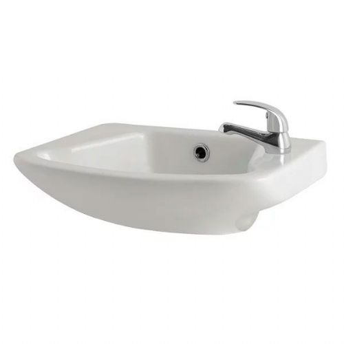 Kartell G4K Cloakroom Basin - 520mm Wide - 1 Tap Hole - White
